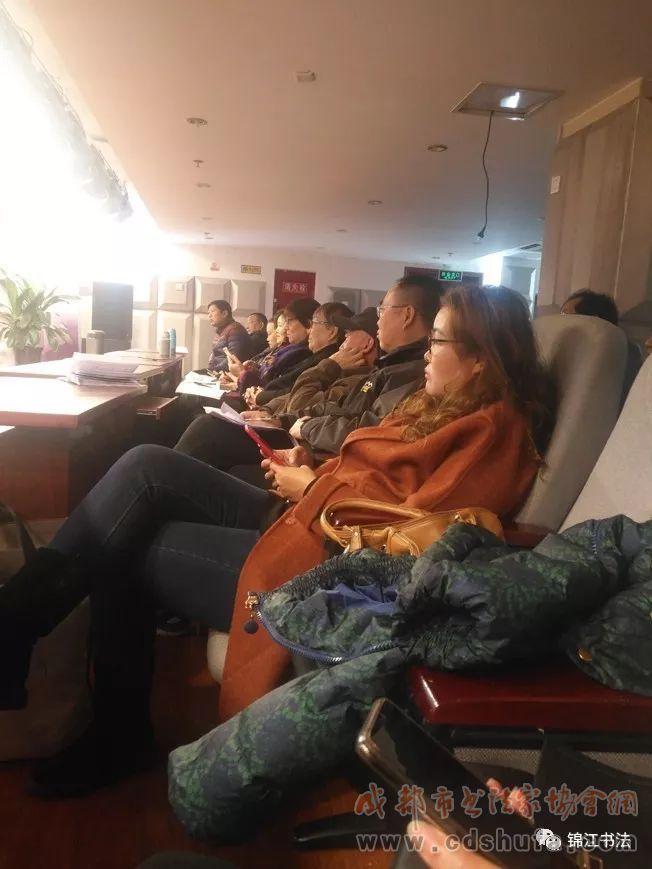 锦江区迎春书法小品展看稿会暨锦江大讲堂书法公益讲座在锦江区文化馆举办