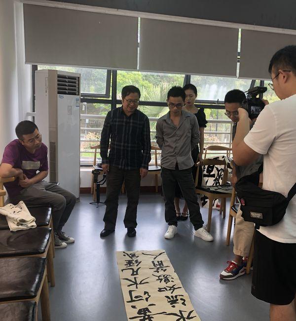 """舒炯主席在成都大学美术与设计学院开展""""书法与文化"""" 主题讲座"""