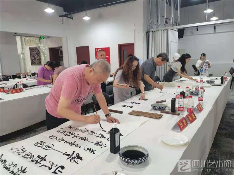 """""""百年丰碑·翰墨青羊""""百米长卷书写活动举行"""
